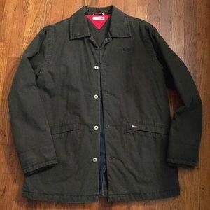 men's Vintage 90s olive canvas denim coat size M